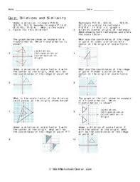 geometry worksheet dilations dilations pinterest geometry