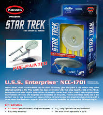 Polar Lights Models Star Trek Enterprise Ncc 1701 Snap Fit Pre Painted 1 1000 Scale