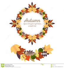 autumn ornaments wreath and garland stock vector image 45359192
