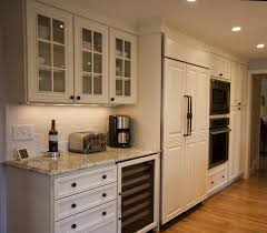 ivory painted kitchen with step down island white kitchens