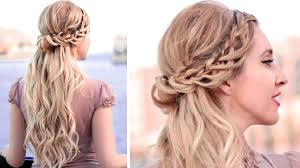 bridal hairstyles medium length half up half down hairstyles with curls for party prom wedding
