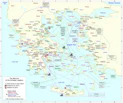 Ithaca Greece Map by Map The Returns Greek Mythology Link