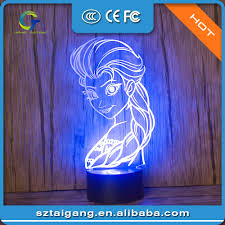 frozen queen 3d light table lamp home decor gadgets led night