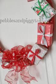 gift box wreath tutorial blissful