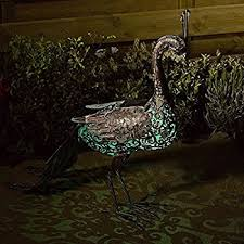 smart solar silhouette solar peacock garden decoration lighting