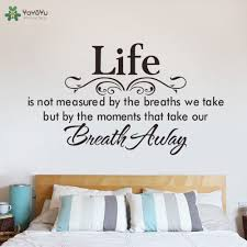 online get cheap mottos for life aliexpress com alibaba group life quotes wall sticker master bedroom headboard wall decal motto poem saying home decor art mural