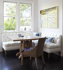 Banquette Dining Room Bar Height Banquette Dining Room Contemporary With Victorian Home