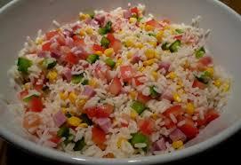 cuisine salade de riz salade de riz une papaye verte en salade