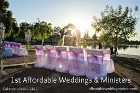 affordable weddings 1st affordable weddings ministers az officiants