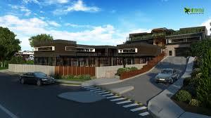 residential bungalow exterior 3d cgi design view by yantramstudio