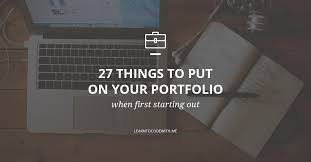 What To Put Under Achievements On A Resume 27 Things To Put On Your Portfolio When First Starting Out