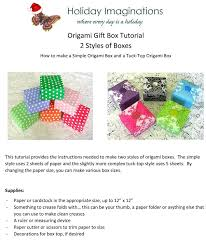 origami box tutorial christmas gift box instant download