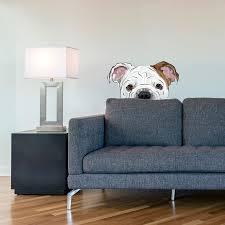 bulldog wall decal peekaboo bulldog wall decal