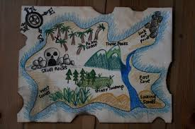 Old Treasure Map Diy Pirate Map And Treasure Hunt Games The Imagination Tree