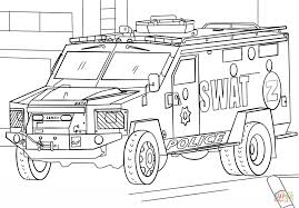 swat truck coloring page free printable coloring pages