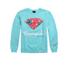 baby blue diamond sweatshirt on the hunt