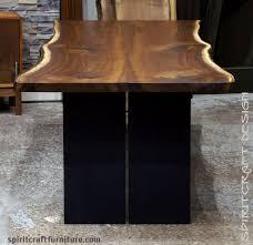 live edge table chicago black walnut slab dining table with live edge chicago area client