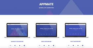 free template for website with login page top 5 material design landing page templates appmate material design app landing template