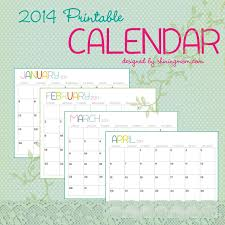 4 best images of free printable 12 month calendar 2014 printable