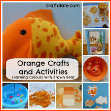 orange crafts and activities learning colours with brown bear