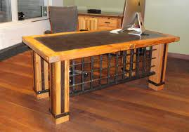Timber Office Desk Rustic Lodge Log And Timber Furniture Handcrafted From Green