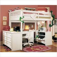 lea loft bed with desk lea willow run tall loft bed with desk in