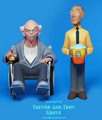 breaking bad toon up figures hector and gus by trevorgrove on