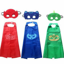 2pcs pj masks role play cloak mask cosplay action toys