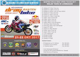 banten drag bike open 2017 berhadiah ratusan juta rupiah