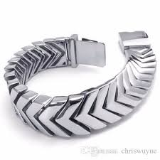 stainless silver bracelet images 2018 cool mens silver bracelets jewelry heavy wide 316l stainless jpg