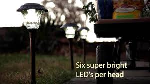 Brightest Led Solar Path Lights by Solar Pathlights Sku 11895 Plow U0026 Hearth Youtube