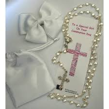 communion gift gorgeous communion gift set white rosary
