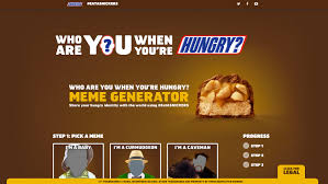 Meme Generator 2 Pictures - snickers asks people to share who they are when they re hungry with
