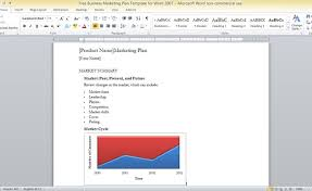 templates en word 2007 business marketing plan template for word 2007