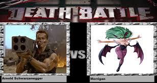 Arnold Schwarzenegger Memes - death battle arnold schwarzenegger vs morrigan by kart42 on deviantart
