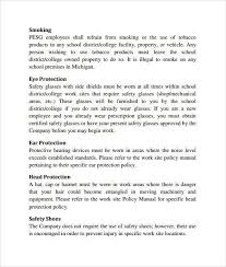 safety manual template sample safety plan policies and procedures