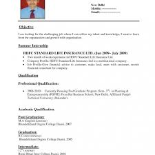 The Standard Resume Format For by Standard Resume Format For It Engineers Resume Format For Diploma