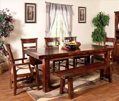 rustic kitchen table with bench seating 5a5 info