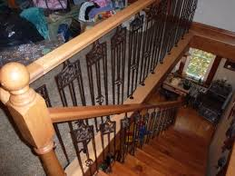 open staircase railing custom carpentry cutting edge construction
