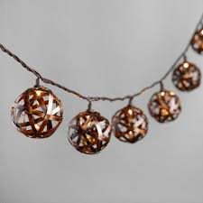 copper globe string lights bronze metal orb 10 bulb string lights world market