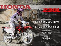 honda 230 crf owners guide books motorcycles catalog with