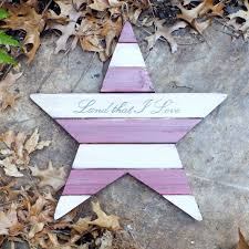 hand lettered u0026 painted wood pallet star land that i love
