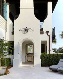 behr silky white florida vacation home the exterior of the house mixes traditional