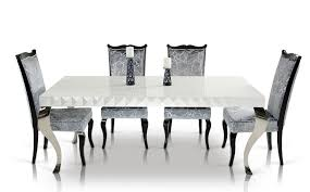 Modern White Dining Room Set by Mia Modern White Lacquer Dining Table