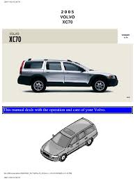 volvo xc70 2005 user manual airbag seat belt