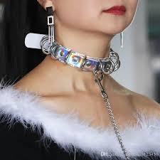 collar necklace sale images Online cheap 2018 choker necklace women 2018 pu handmade laser jpg