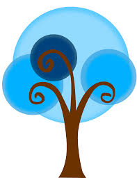 clipart blue tree