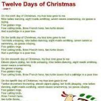 words for the twelve days of christmas song christmas decore