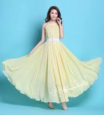 evening wedding bridesmaid dresses 29 colors chiffon light yellow dress evening wedding