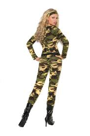 Army Halloween Costumes Women U0027s Halloween Costume Army Camouflage Jumpsuit